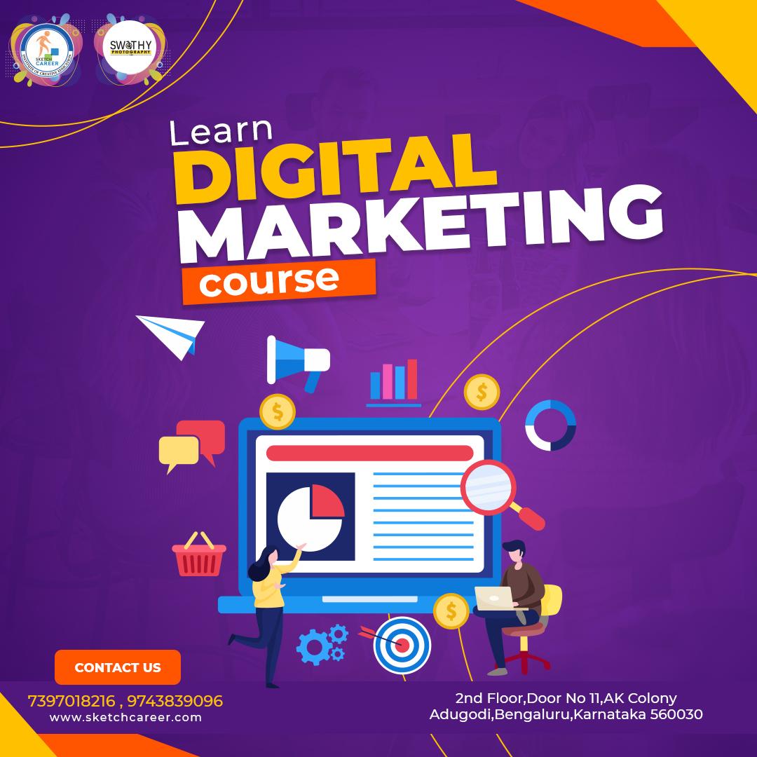 Digital marketing course in Adugodi and Magadiroad,Rajajinagar